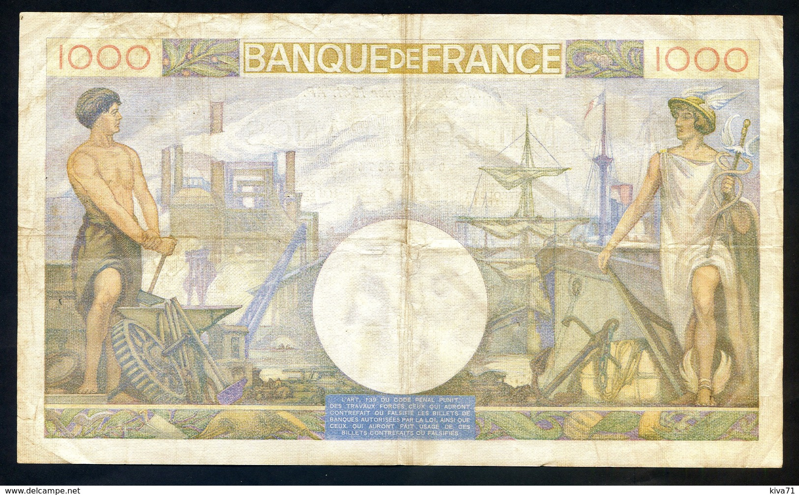 """1000 Francs  """"Commerce Et Industrie""""    6 Février 1941    Fay.39-4   TTB/  SUP - 1871-1952 Circulated During XXth"""