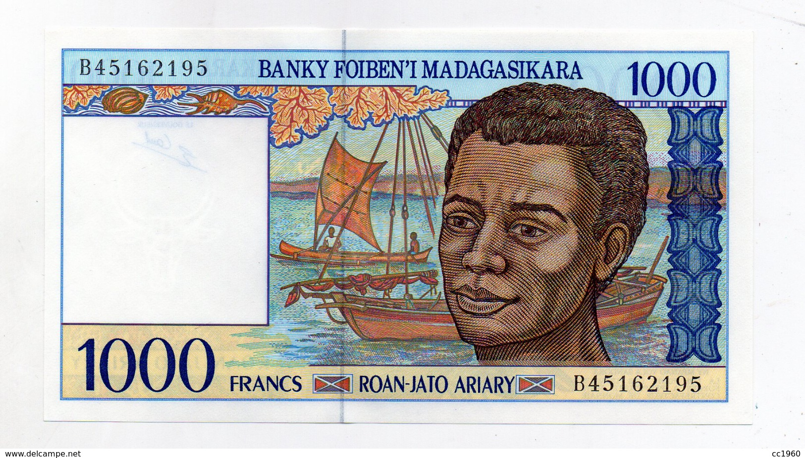Madagascar - Banconota Da 1000 Franchi - Nuova -  (FDC1633) - Madagascar