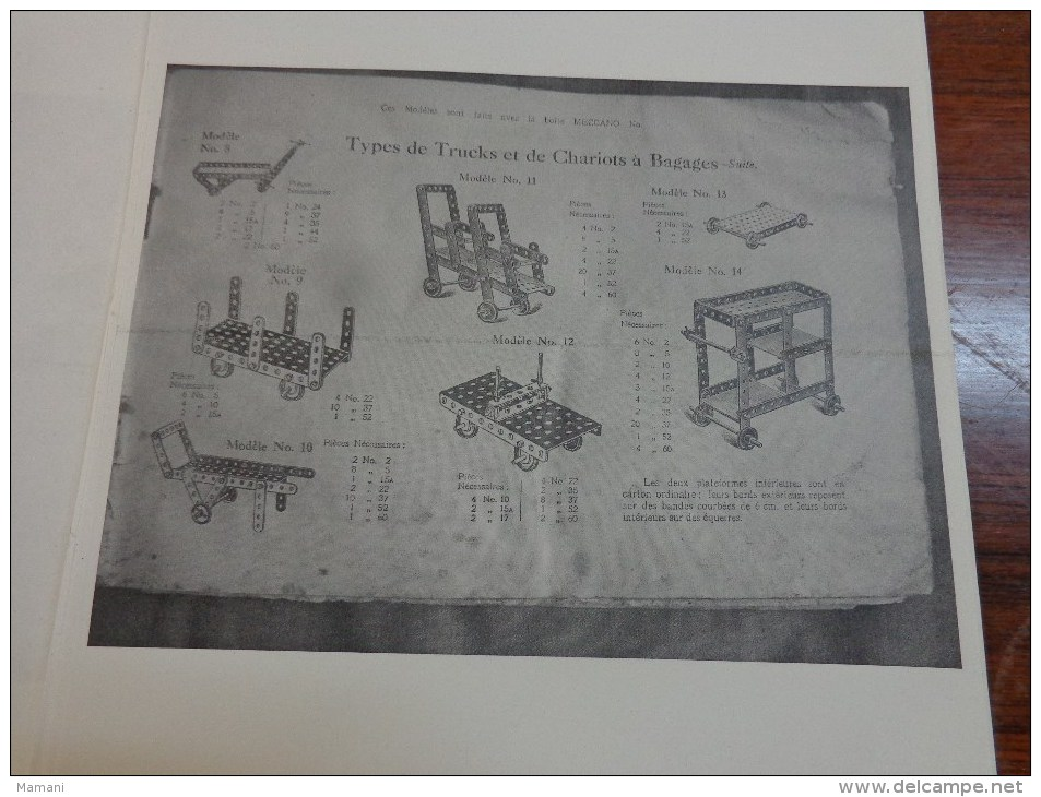 Photocopie De 57 Pages De Montage Meccano - Autres
