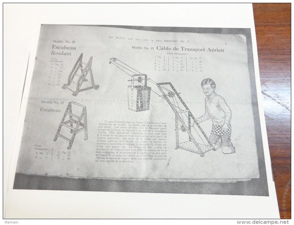 Photocopie De 57 Pages De Montage Meccano - Autres Collections
