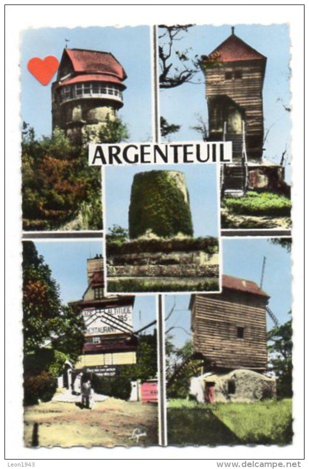 12180-LE-95-ARGENTEUIL Et Ses Vieux Moulins---------vues Multiples Diverses - Argenteuil