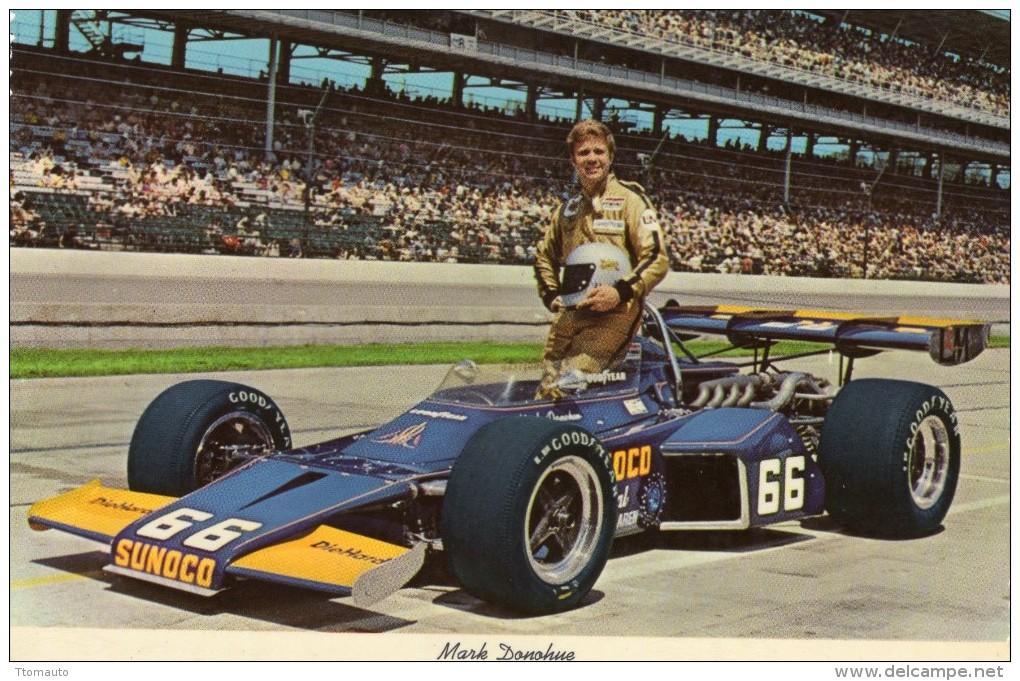Mark Donohue   -  Vainqueur 1972  Indianapolis 500 Miles  -  Carte Postale - IndyCar