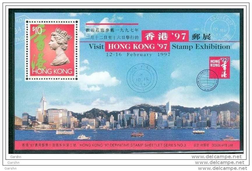 Bloc De China Chine : (43) 1996 Hong Kong - ´97 De Exposition Timbres No.3 SG MS841** - 1997-... Sonderverwaltungszone Der China