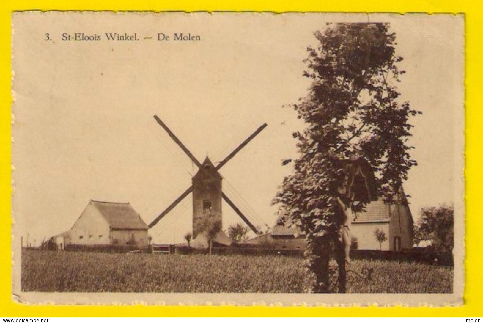 ST-ELOOIS WINKEL 1914 * DE MOLEN * Uitg J Oost-Vanhevel * SINT-ELOOIS-WINKEL LEDEGEM * MOULIN Heemkunde 3046 - Ledegem