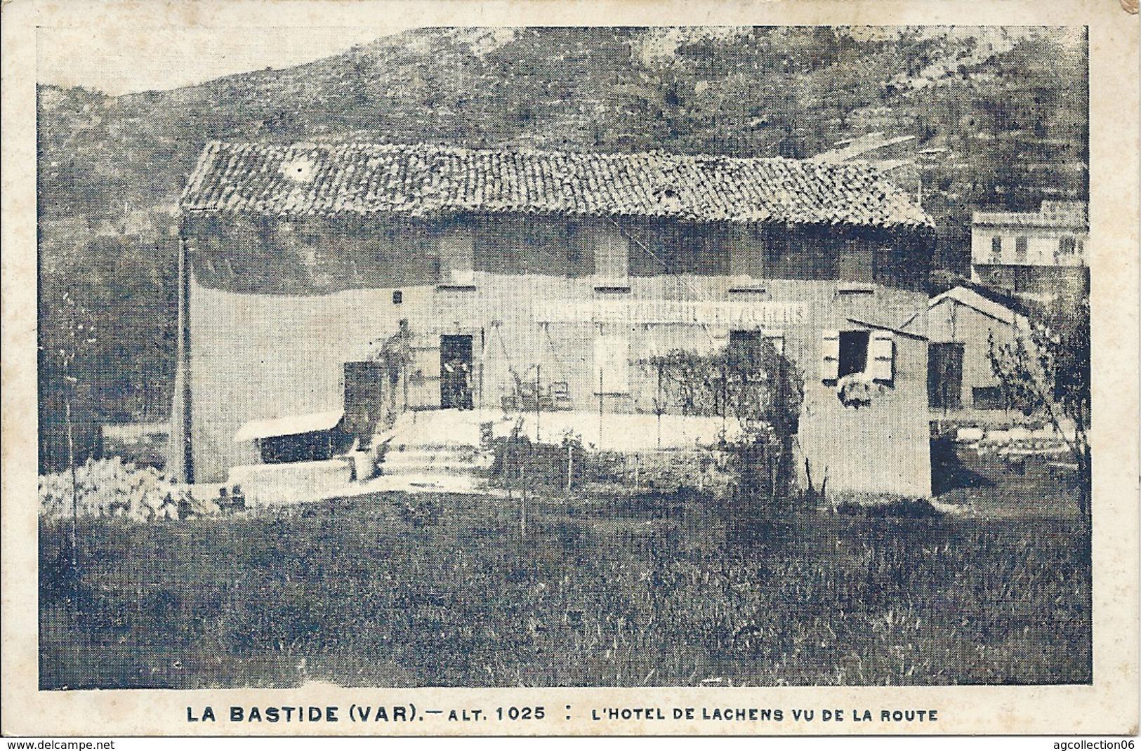 LA BASTIDE. HOTEL DE LACHENS VU DE LA ROUTE - France