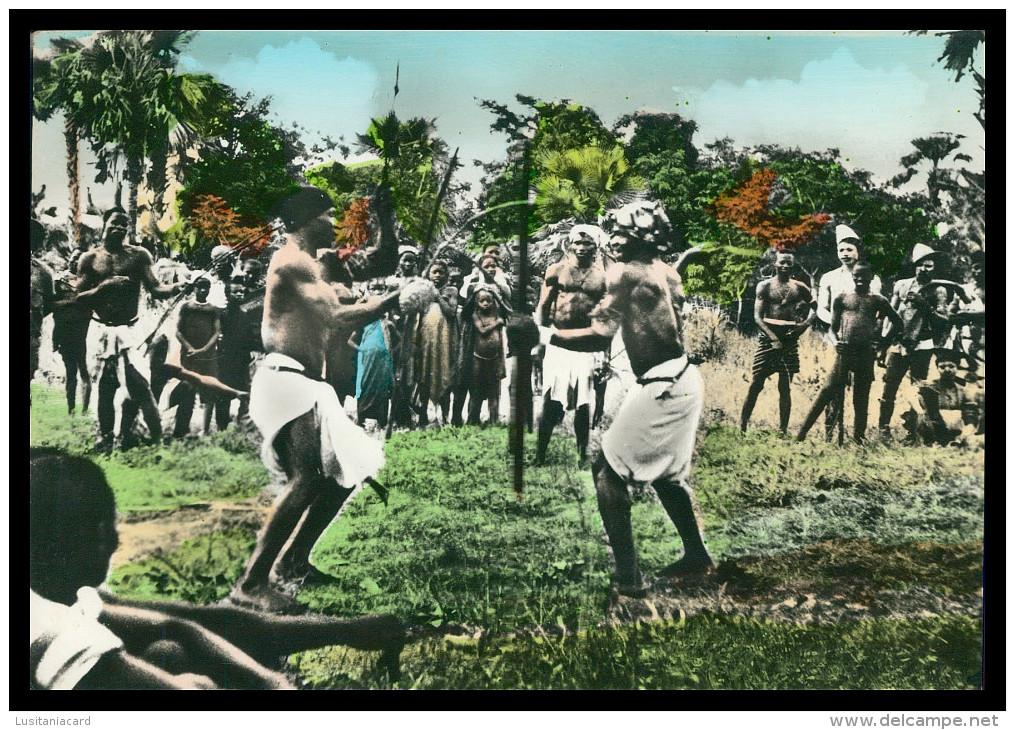 GUINE-BISSAU - Luta De Mantampa «Papeis» ( Ed. Confeitaria Imperio)   Carte Postale - Guinea-Bissau