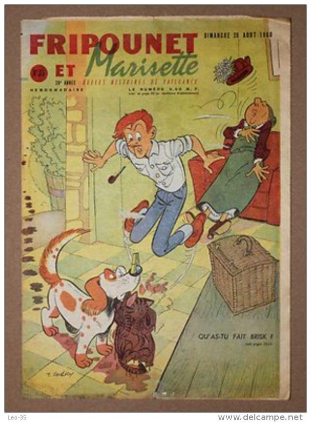 Magazine Hebdomadaire FRIPOUNET ET MARISETTE 1960 - N° 35 - Fripounet