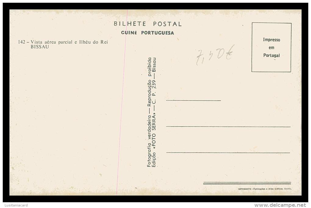 BISSAU - Vista Aerea Parcial E Ilheu Do Rei ( Ed. Foto-Serra Nº 142) Carte Postale - Guinea-Bissau