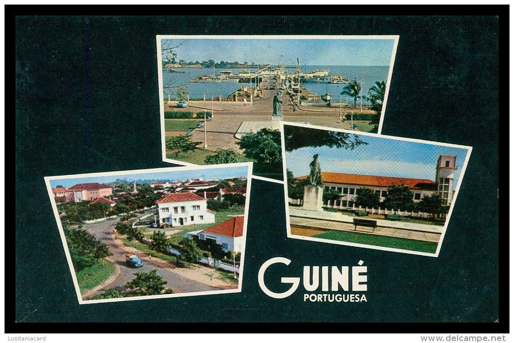 GUINE- BISSAU- Ponte Cais; Diogo Gomes; Aspecto Parcial Da Camara  ( Ed. Foto-Serra Nº 151) Carte Postale - Guinea-Bissau