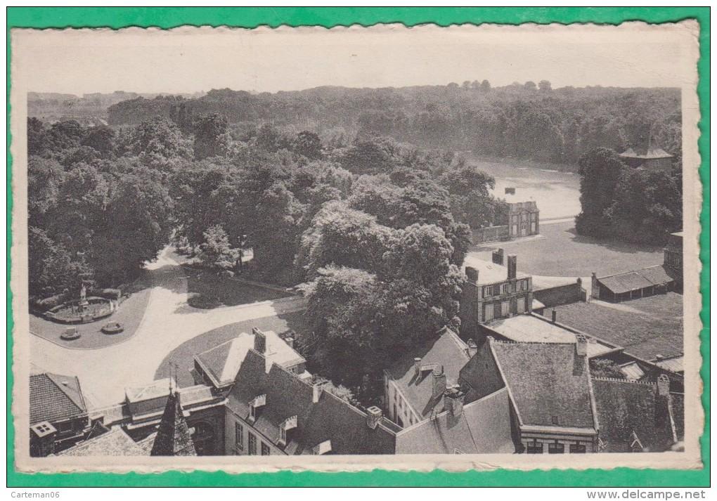 """Belgique - Enghien - Panorama Du Parc - Cachet """"Veuillez Indiquer à Votre Correspondant Votre Adresse, Service Postal"""" - Enghien - Edingen"""