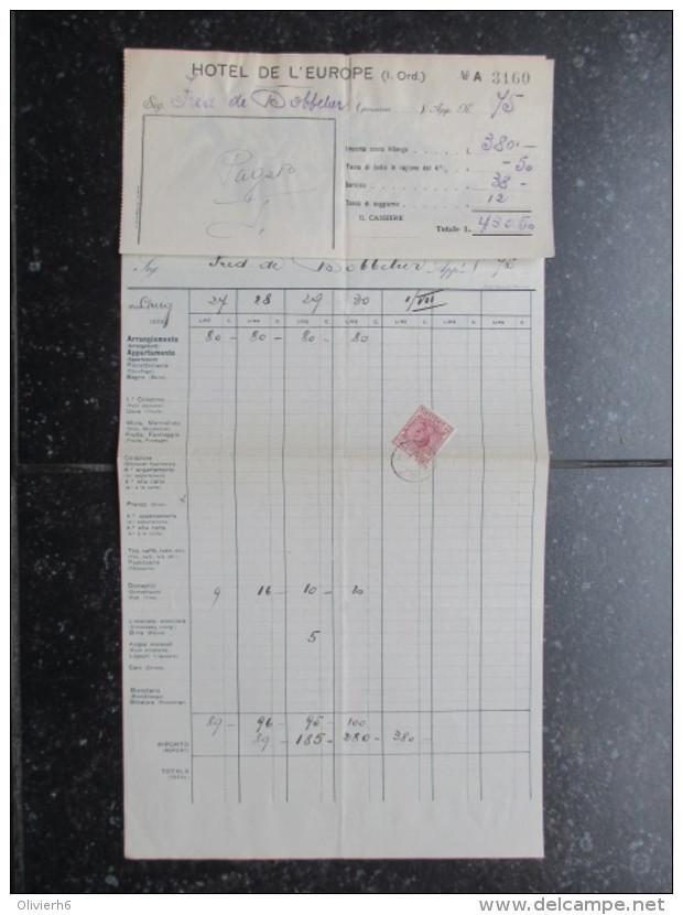 VP FACTURE ROYAUME-UNI (V1618) ALBERMALE HOTEL 1933 (2 Vues) Brighton Marine Parade - Royaume-Uni