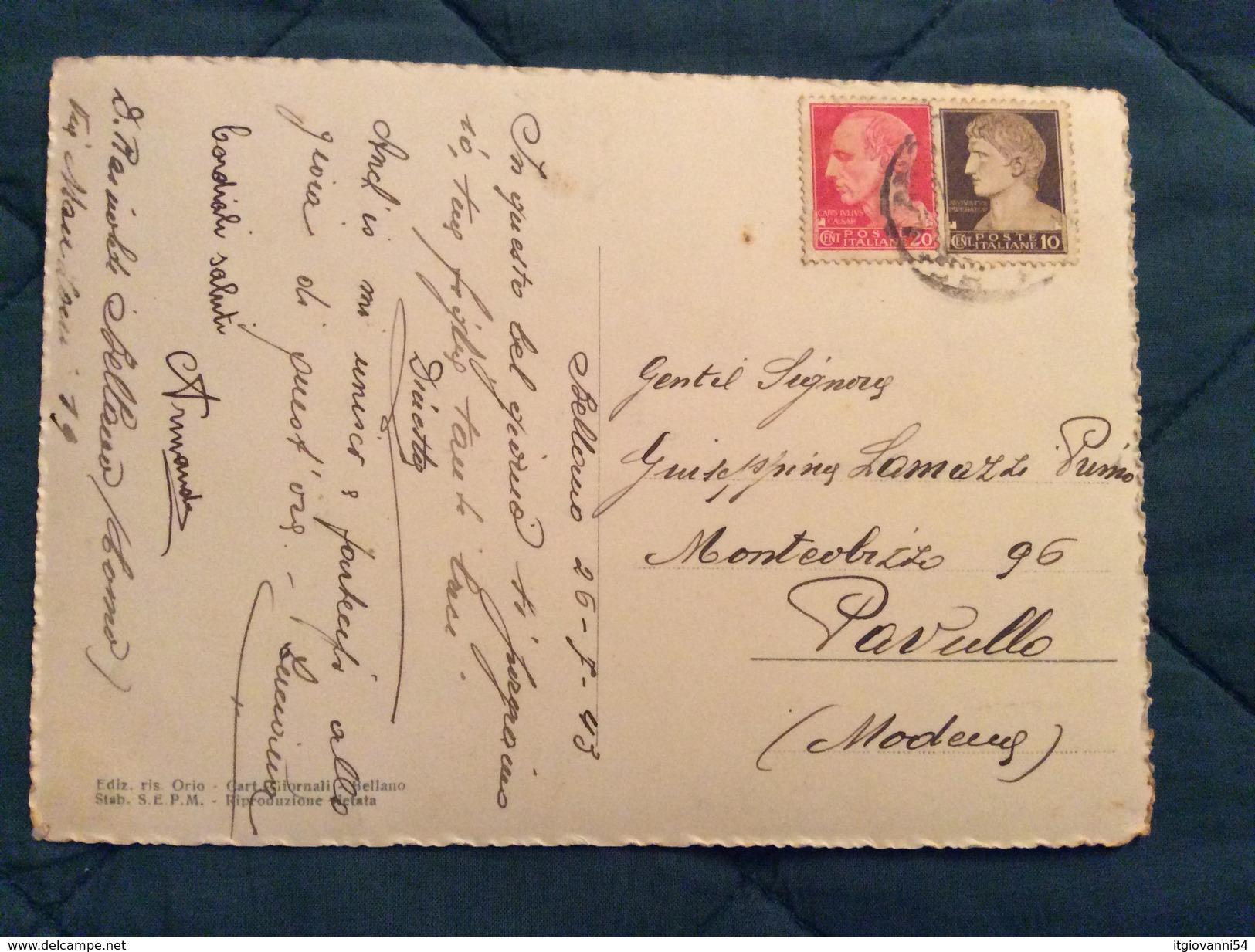 Cartolina Anni '40 Di Bellano (CO) Viaggiata Nel 1943 - Como
