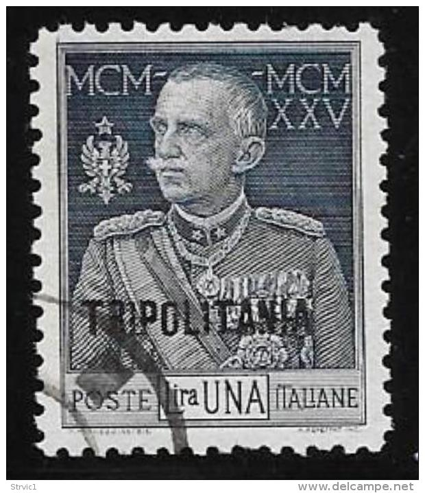 Tripolitania, Scott # 18 Used Italy Stamp Victor Emmanuel, Overprinted, 1925 - Tripolitania