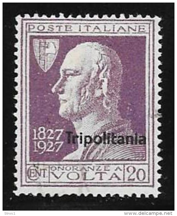Tripolitania, Scott # 25 Used  Italy Stamp Volta, Overprinted, 1927 - Tripolitania
