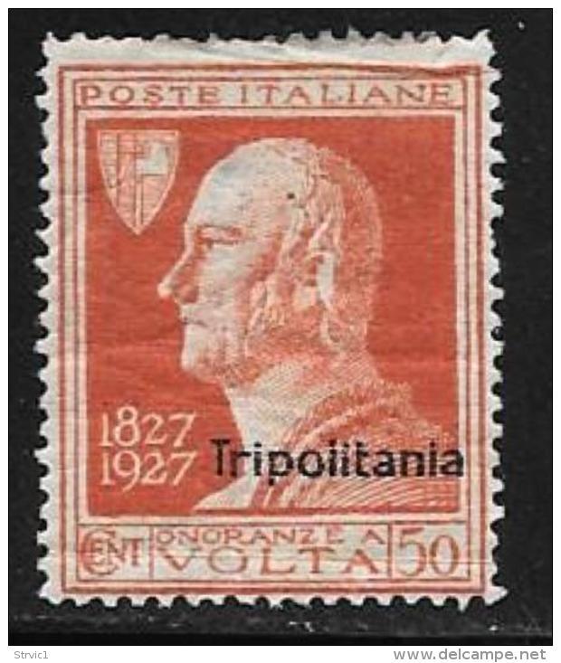 Tripolitania, Scott # 26 Mint Hinged Italy Stamp Volta, Overprinted, 1927,crease - Tripolitania