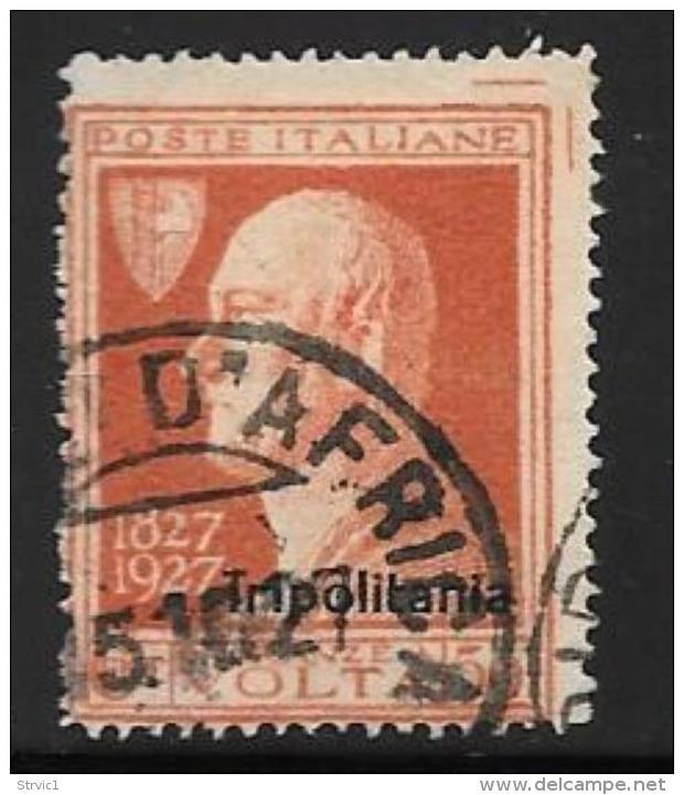 Tripolitania, Scott # 26 Used Italy Stamp Volta, Overprinted, 1927 - Tripolitania