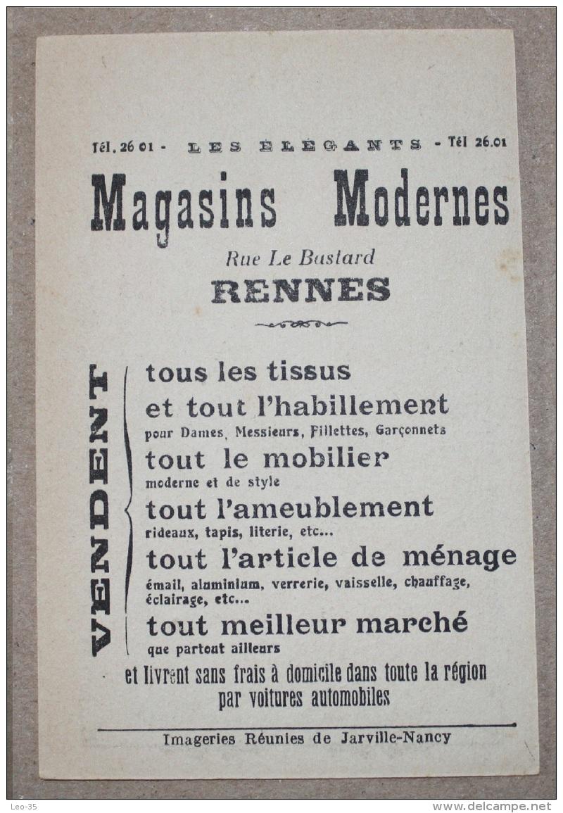 Carte Chromo Publicitaire MAGASINS MODERNES RENNES Jeux De Dessin Caché (n°3) - Unclassified