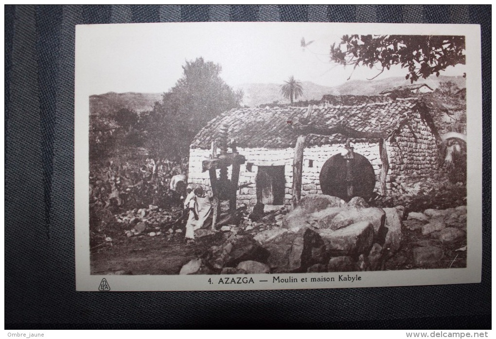 C1  - ALGERIE - KABYLIE - AZAZGA - MOULIN ET MAISON KABYLE - Other Cities