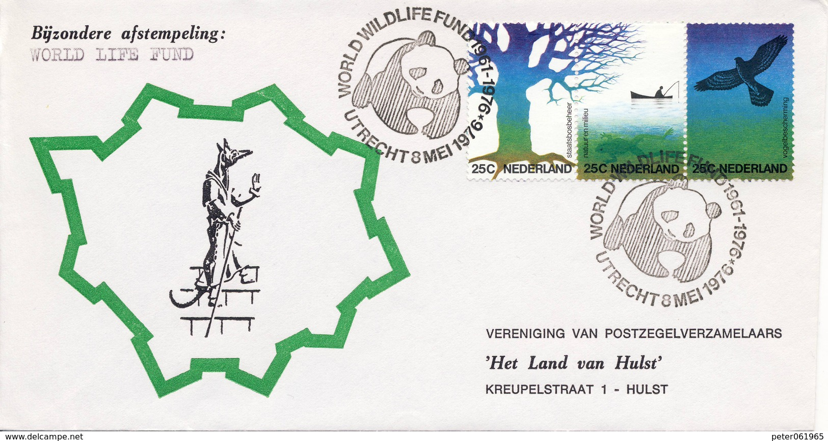 Gelegenheidsenvelop World Wildlife Fund (1976) - Period 1949-1980 (Juliana)