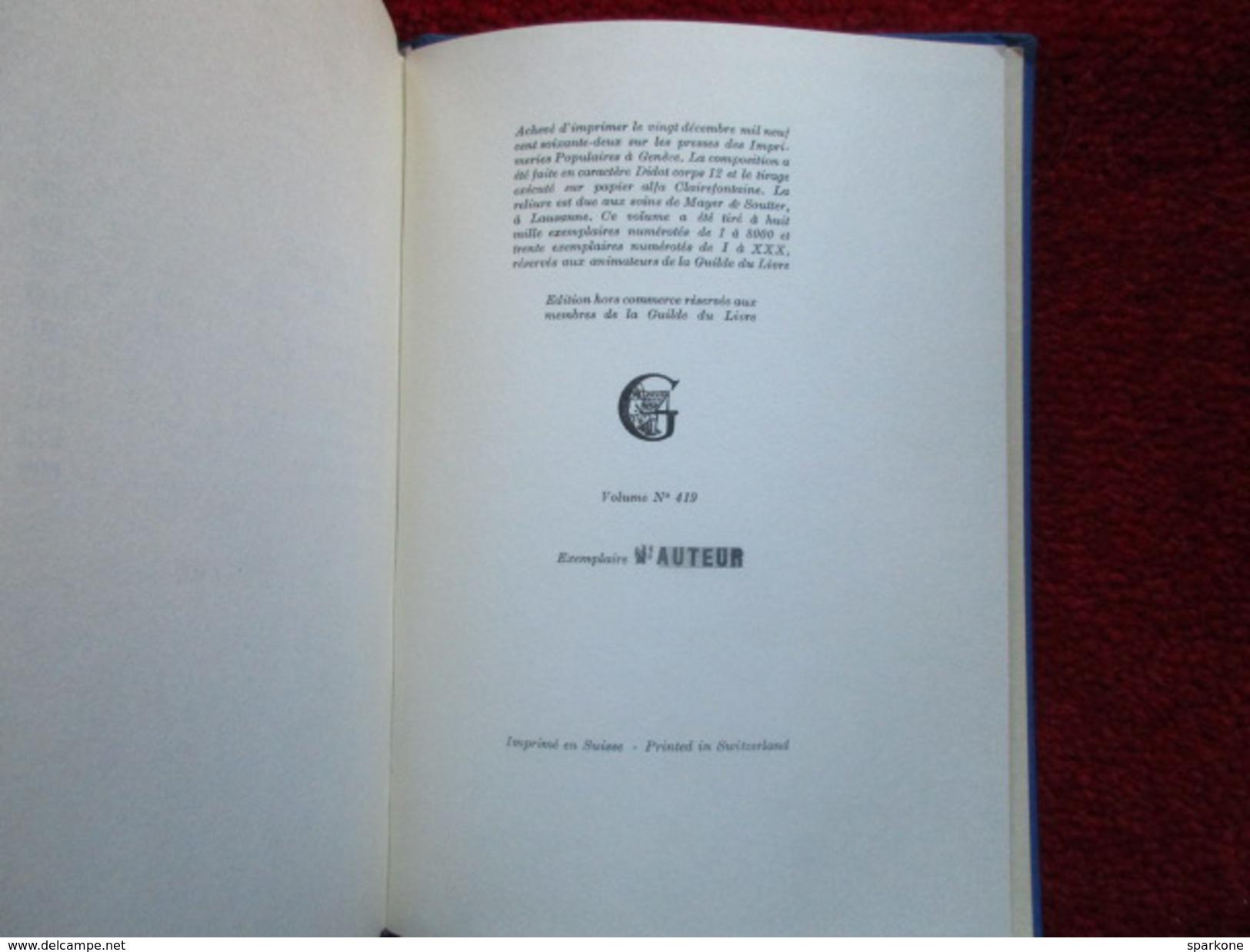 """Changer La Vie """"Mon Enfance Et Ma Jeunesse""""  (Jean Guéhenno)  éditions La Guilde Du Livre De Lausanne De 1972 """"D'auteur"""" - Bücher, Zeitschriften, Comics"""
