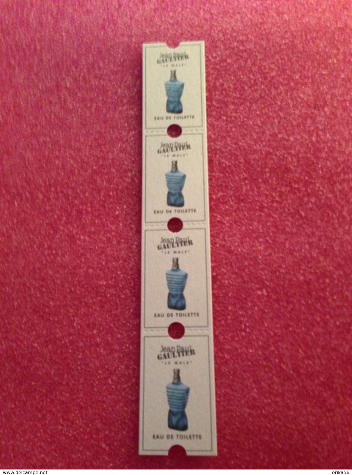 Le Male De  Jean Paul Gaultier  Ticket De Cinéma - Cartas Perfumadas