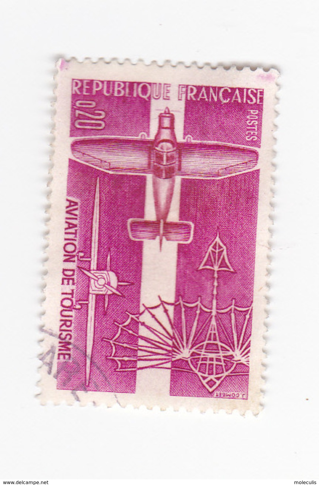 0,20 Francs - Aviation De Tourisme - France