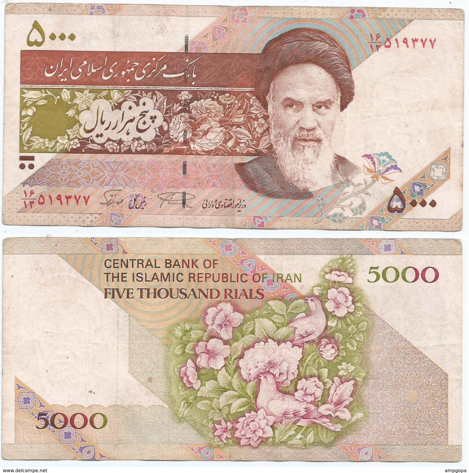 Iran 5.000 Rials 1993, Firma 28 Pick 145.c Ref 953 - Irán
