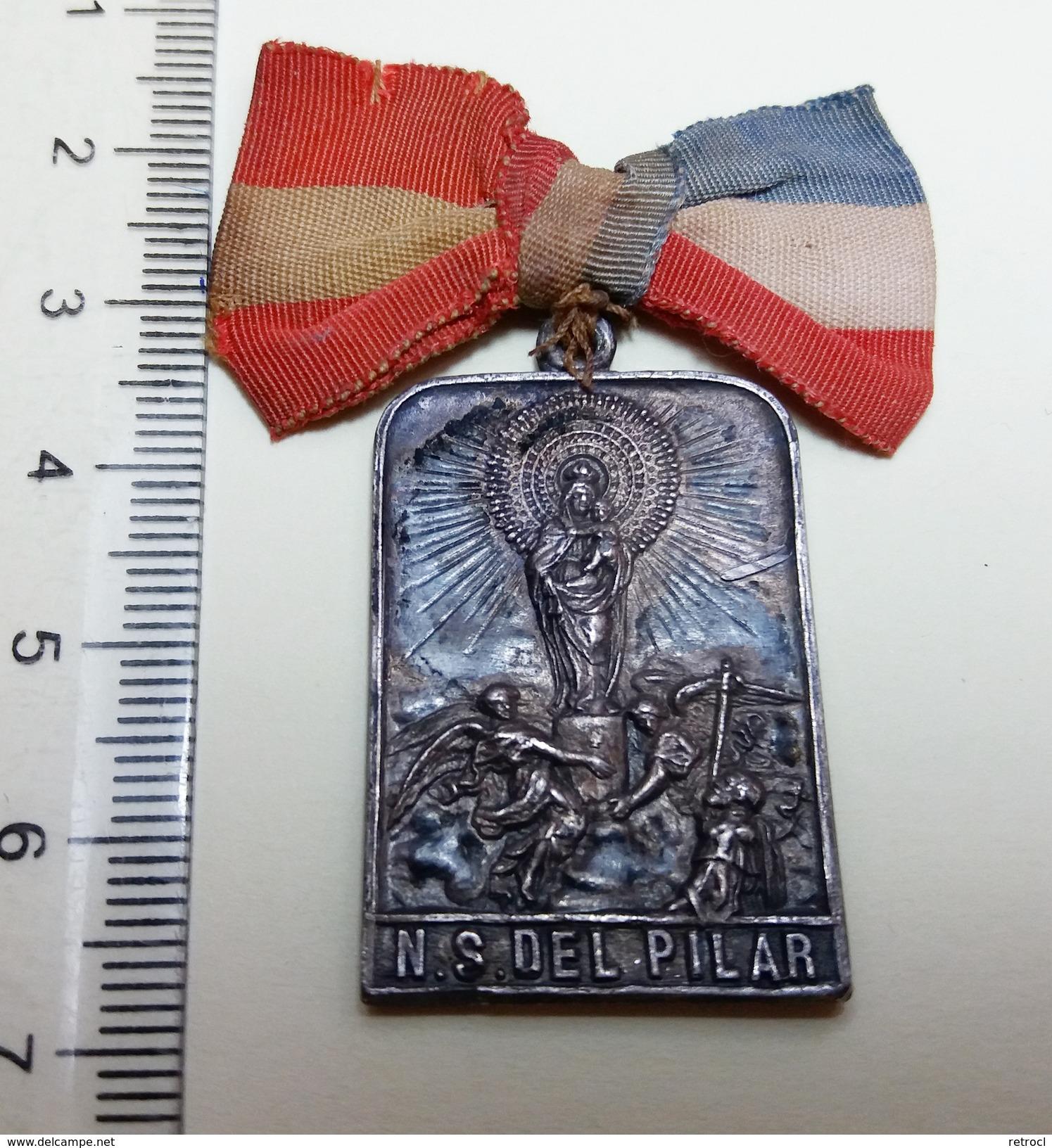 Very Old Pendant - Spain France - Peregrinacion N.S. DEL PILAR - Religión & Esoterismo