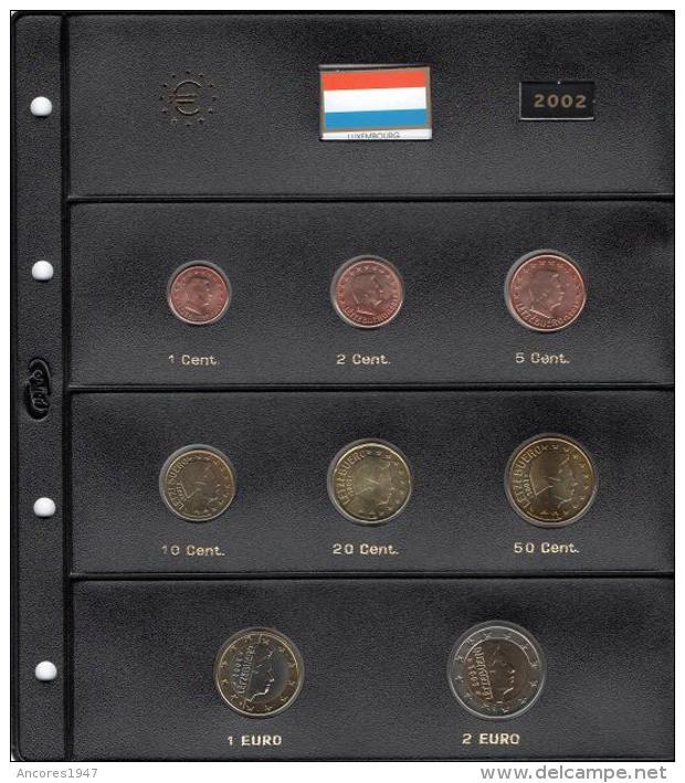 LUXEMBURGO 2002, 8 MONEDAS, SC - Luxemburgo