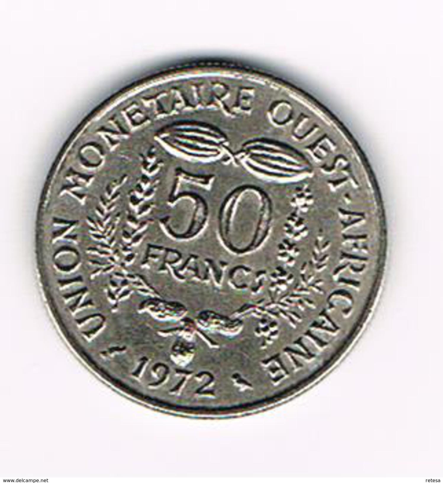 °°°  WEST AFRICAN STATES  50 FRANCS  1972 - Centrafricaine (République)