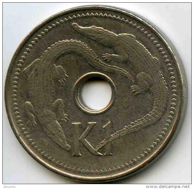 Papouasie Nouvelle Guinée Papua New Guinea 1 Kina 2002 KM 6a - Papouasie-Nouvelle-Guinée
