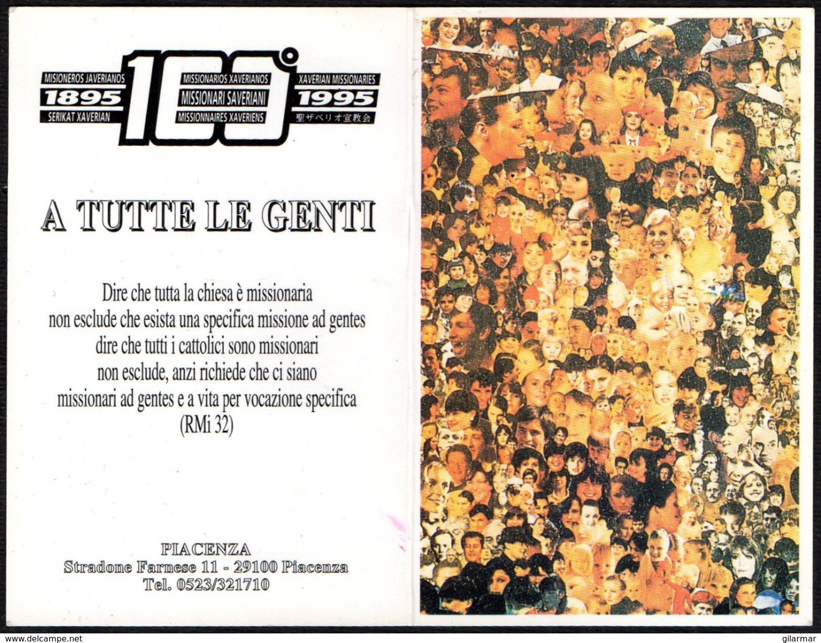 RELIGION - ITALIA 1999 - CALENDARIO TASCABILE - MISSIONARI SAVERIANI - Calendari