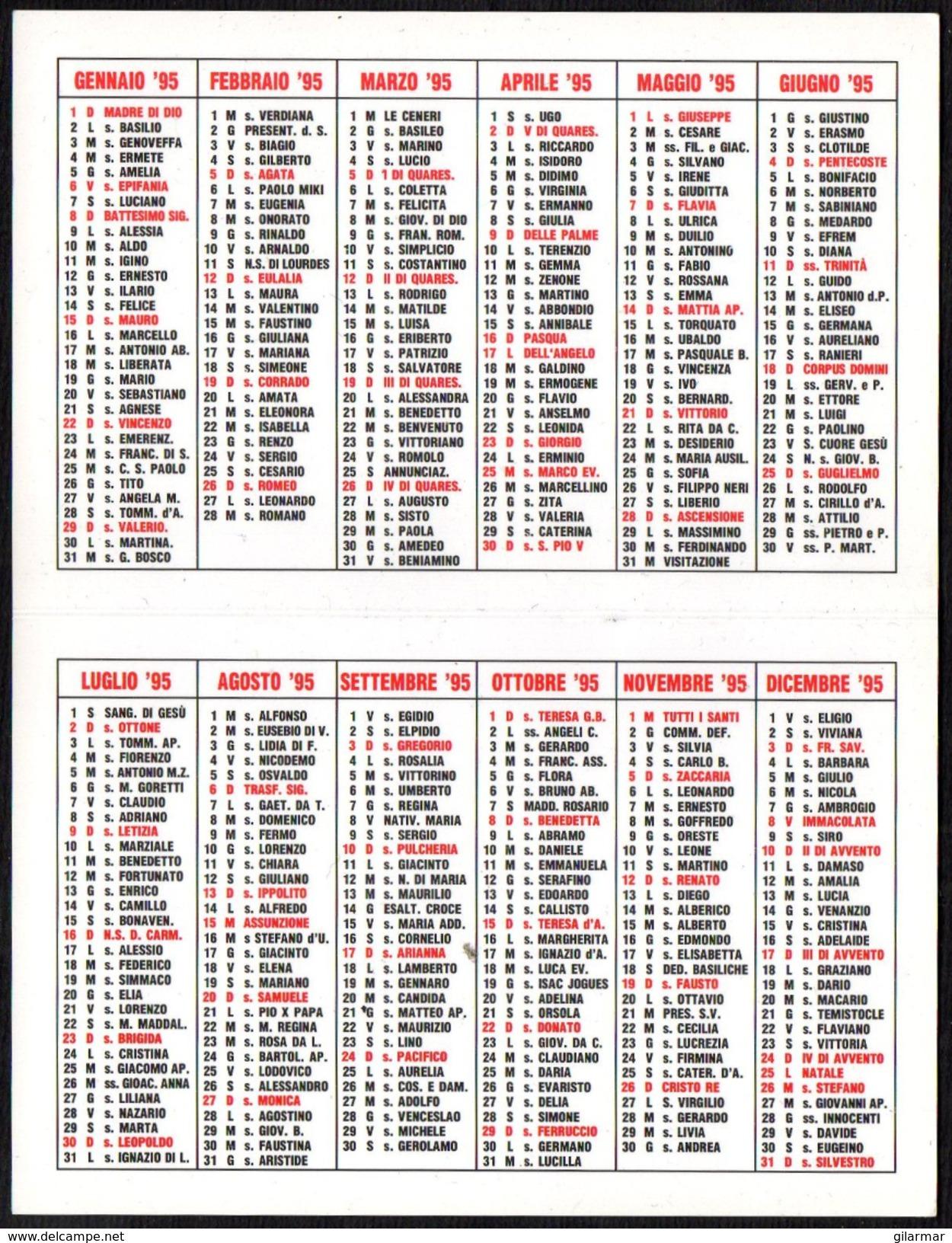 RELIGION - ITALIA 1999 - CALENDARIO TASCABILE - MISSIONARI SAVERIANI - Formato Piccolo : 1991-00