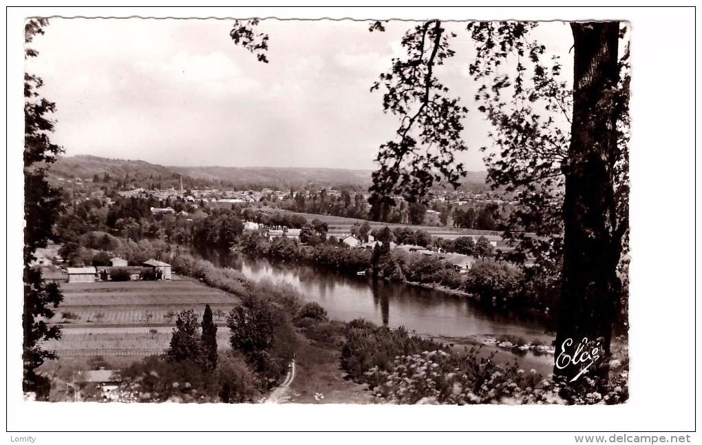 33 Sainte Foy La Grande Vue Sur La Dordogne Au Fond Sainte Foy La Grande , Cachet Ste Foy 1971 - France