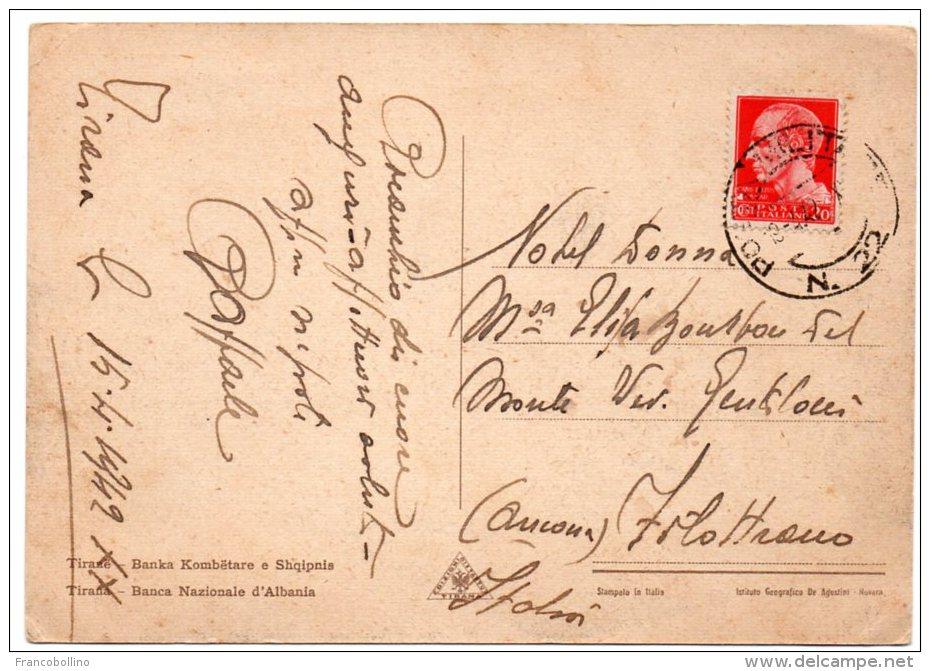 ALBANIE/ALBANIA - TIRANA/TIRANE BANCA NAZIONALE D'ALBANIA/BANK - 1942 - Albania