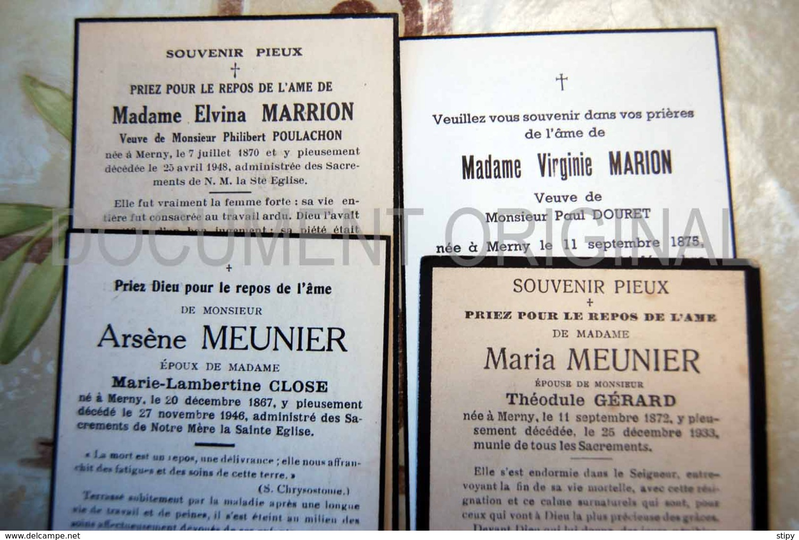 Merny (Paliseul) - Meunier, Marion Marrion - Paliseul