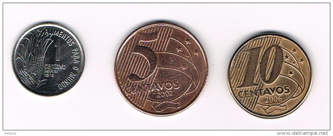 °°°   BRAZILIE  1 - 5 -10 CENTAVOS  1975 - 2002 -  2006 - Brésil