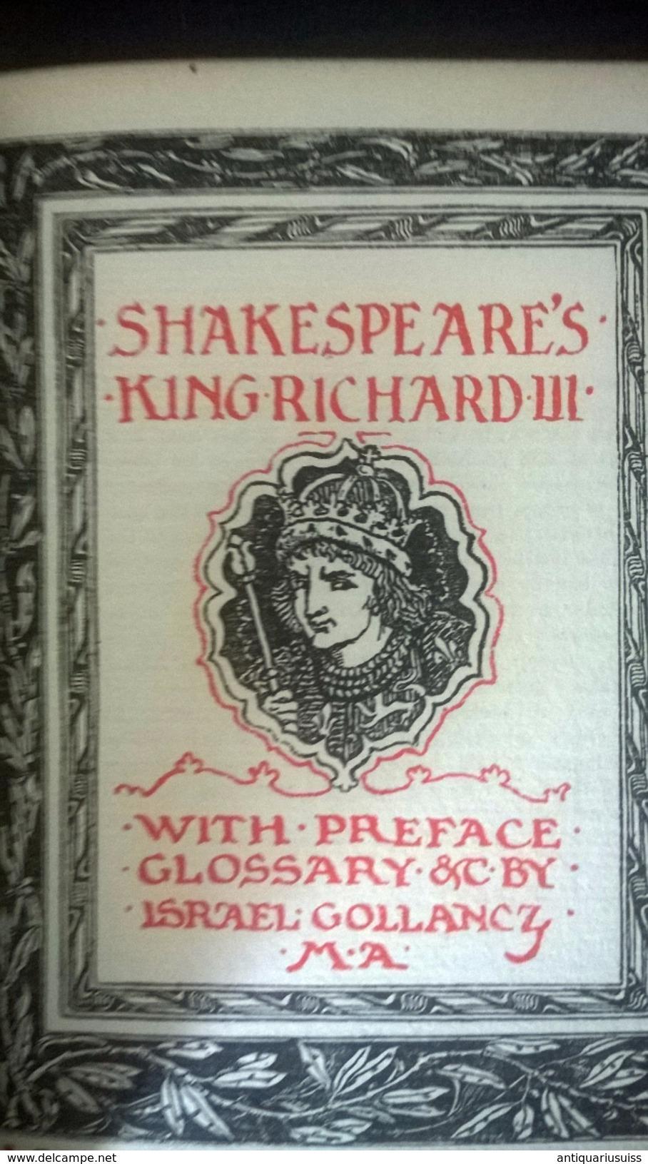 1916 - Shakespeare's - KING RICHARD III - Non Sans Droict - Essais Et Discours