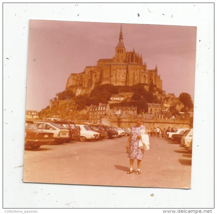 Photographie , 9 X 9 , MONT SAINT MICHEL ,1975 , Automobiles - Lieux