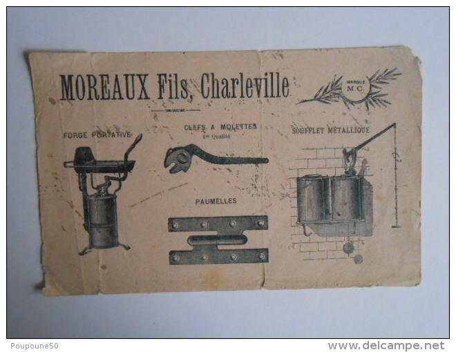 Buvard Ancien  1920 Outillage  Sté MOREAUX Fils à  CHARLEVILLE Mézières  ( Ardennes 08 ) - Buvards, Protège-cahiers Illustrés