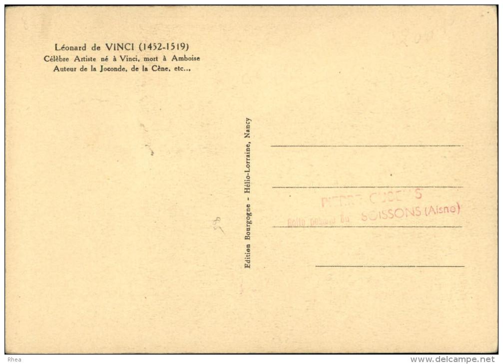 CARTE 1er JOUR - LEONARD DE VINCI - Congrès International Amboise 1952 - Cartes-Maximum