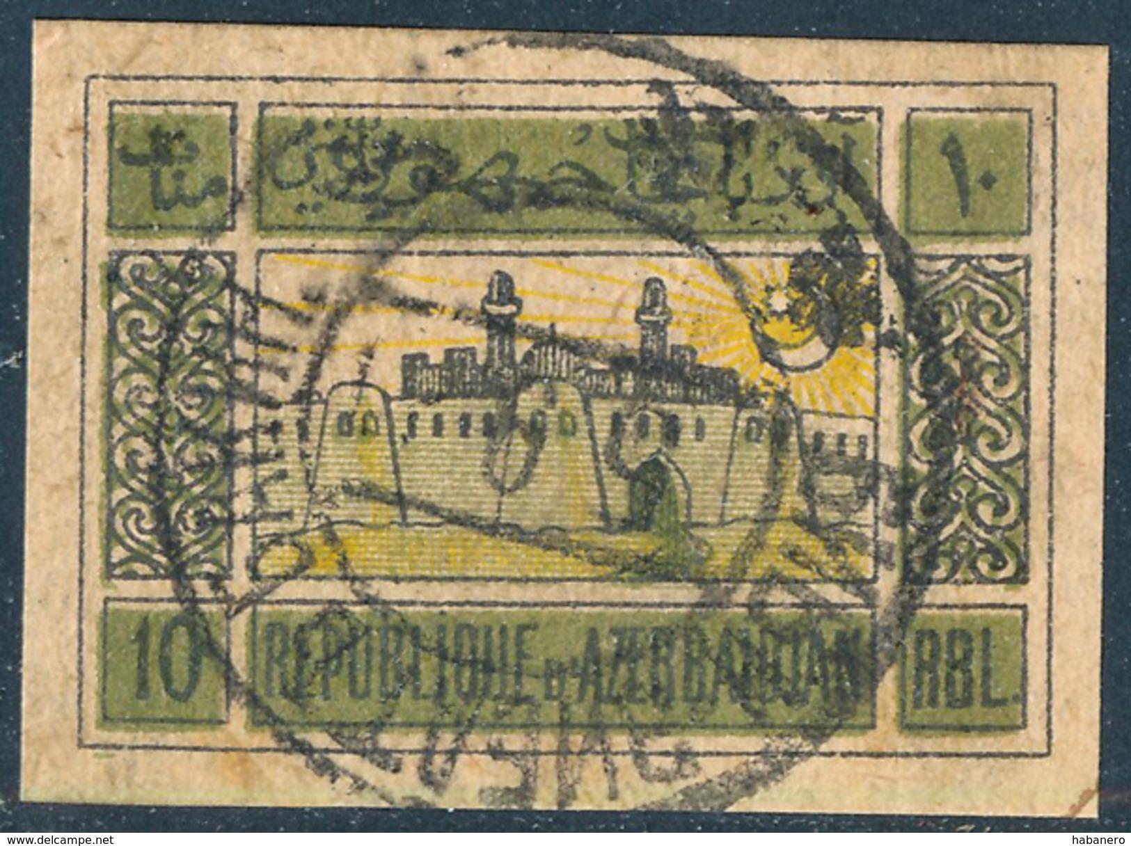 AZERBAIJAN - 1920 - Mi 8y (SOVIET ISSUE) - Azerbaïjan