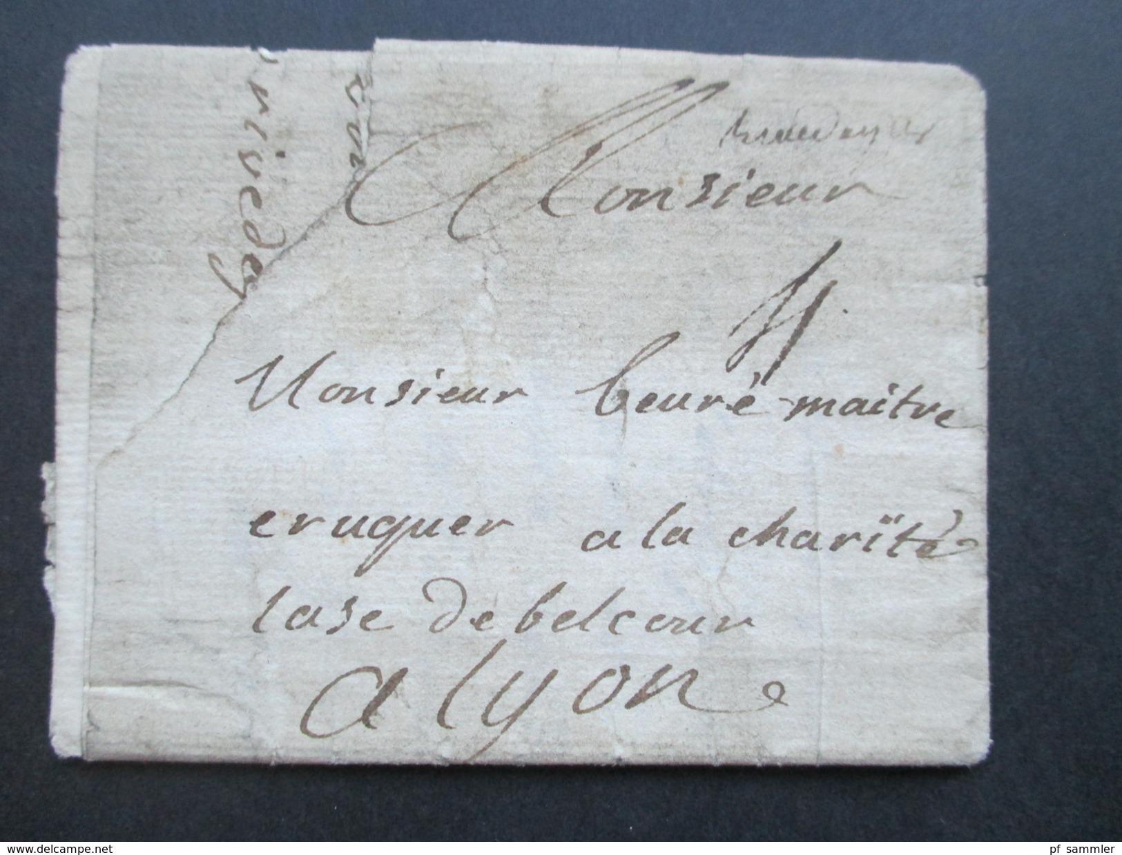 Frankreich Vorphila / Prephila Brief Nach Lyon... 18....? Interessant? - Marcophilie (Lettres)