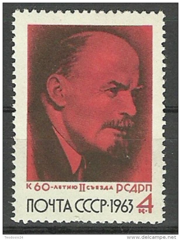 URSS 1963 Mi:SU 2786, Yt:SU 2695 ** MNH ANIVERSARIO CONGRESO PARTIDO SOCIALISTA - 1923-1991 UdSSR