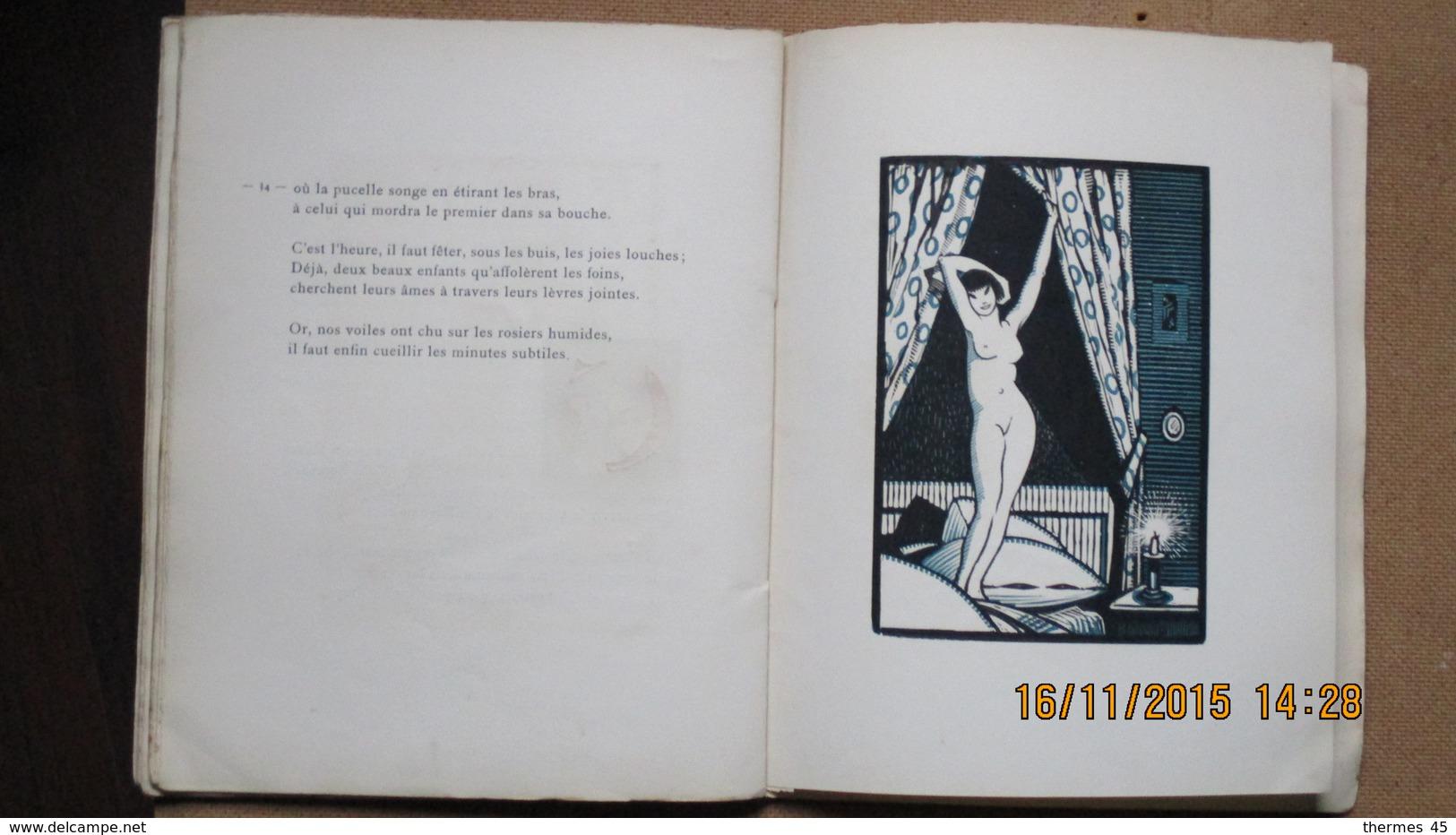 """CURIOSA /POEMES DE DOËTTE ANGLIVIEL / """" LA LUNE DES CHATS """" / 1923 / Nté Sur VELIN./ BOIS De R.HENRY.MUNSCH. - Auteurs Français"""