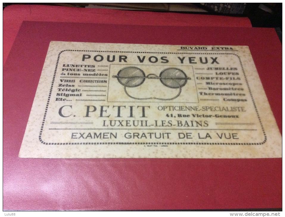 LUXEUIL LES BAINS.  Buvard. Opticienne PETIT   23/11/16 - Buvards, Protège-cahiers Illustrés