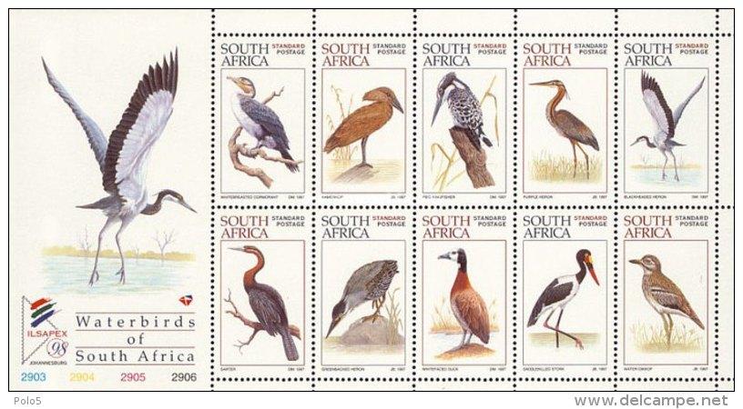 RSA 1997-World Envirenmental Day -Waterbirds Of South Africa M/Sheet - Südafrika (1961-...)