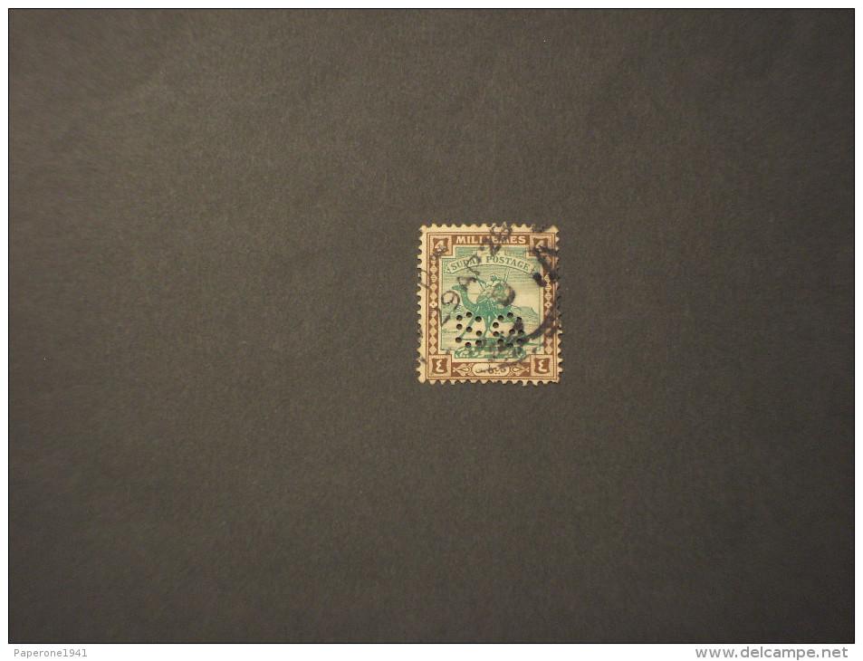 SUDAN - SERVIZIO - 1927/8  MEHARISTA 4 M. - TIMBRATO/USED - Sudan (1954-...)