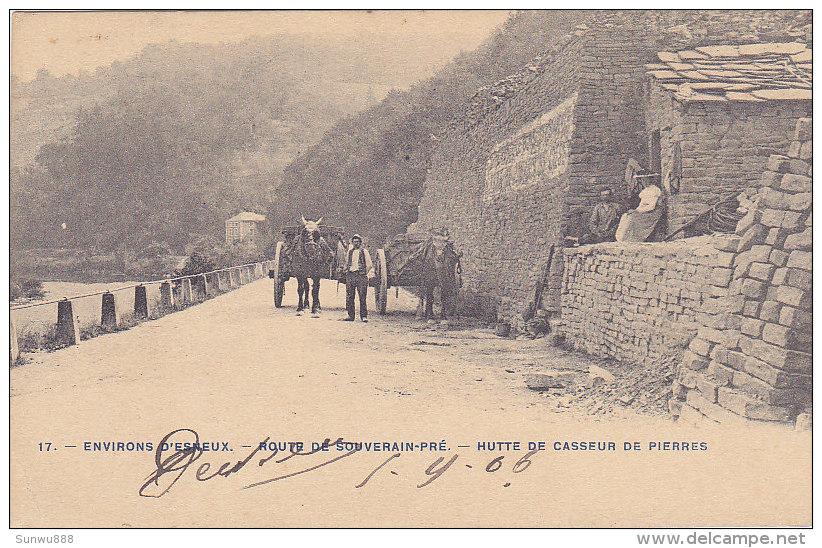 Environs D'Esneux - Route De Souverain-Pré - Hutte De Casseur De Pierres (animée, Attelage, Précurseur) - Esneux