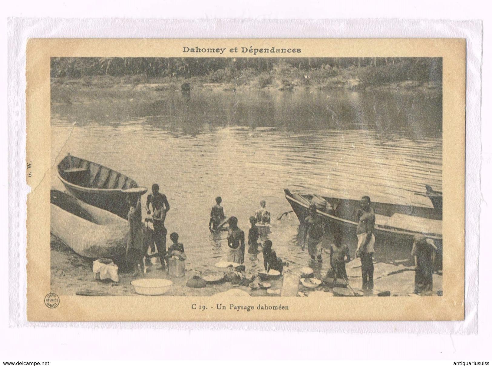 Dahomey Et Dépendances - Un Paysage Dahoméen - Dahomey